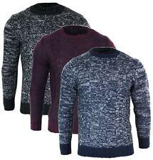 Pull homme laine mélangée tricot chic classique col rond chaud pour l'hiver