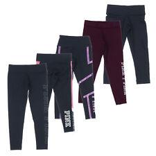 Victoria's Secret Pink Leggings Yoga Pants Athletic Graphic Vs Logo Sport Bottom