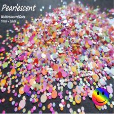 Glitter Nail Art Festival Pearlescent Dots/Circles Mix 5ml 💙💛❤️💚🧡