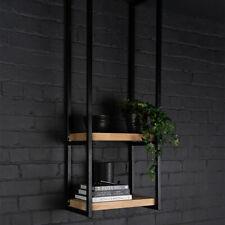 LARGE INDUSTRIAL STYLE SHELF BRACKETS - Black Steel Long Brackets Kitchen Home