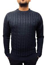 Jersey para hombre D&h Cable Tejido Suéter Pullover Sudadera Prendas para el torso Mangas largas