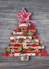 WEIHNACHTSBAUM auf Holztisch: Weihnachtskarten im Set  5,10,15,20,30,50,100 St.