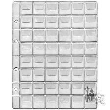 4 x Münzhüllen Münzalbum Münzblätter,  verschiedene Größen und Fächer