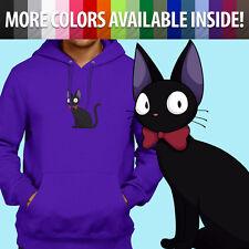 Ghibli Kiki's Delivery Service Jiji Witch Cat Pullover Sweatshirt Hoodie Sweater