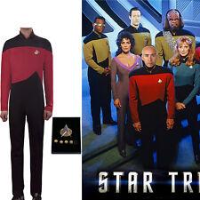 Cosplay Star Trek TNG Jumpsuit Uniform The Next Generation Red Costume Uniforms