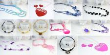 Woman's Fashion Bead Heart Shell Necklace Choker set UK SELLER