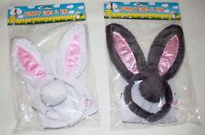 EASTER Bunny Ears & Tail Kids Adults Rabbit Fancy Costume Alice Band Headband
