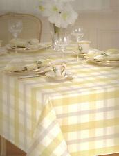 Lenox Winter Woven Plaid Metallic Silver Gold Holiday Anniversary Tablecloth