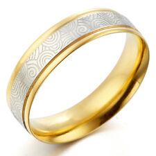Men Women 18K Gold Wedding Titanium Rings Sz4-16 MKUS080A