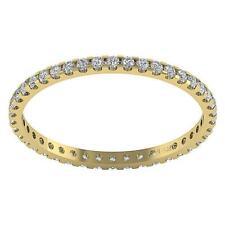 0.50Ct Genuine Diamond VS1 F Eternity Wedding Ring Prong Set 14Kt Gold Appraisal