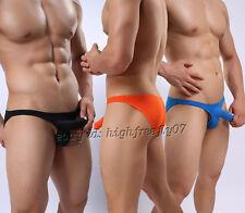HOT Brand NEW Men Comfy Bikini Briefs Underwear Low-rise Long Bulge Pouch Briefs