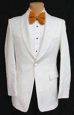 Boy's White Tuxedo Dinner Jacket One Button Shawl Costume James Bond Spy 007