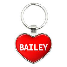 Metal Keychain Key Chain Ring I Love Heart Name B
