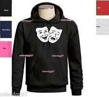 Comedy Tragedy Mask Sweatshirt Hoodie SZ S-3XL