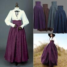 Women Dresses Medieval Vintage Costume Cosplay Skirt Zipper Dress Halloween