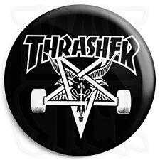 Thrasher Skate Goat - 25mm Skateboard Button Badge with Fridge Magnet Option