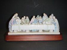 VALENCIA ROMAN COLLECTION 1997 JESUS & THE LAST SUPPER PORCELAIN MUSIC BOX