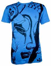 SURE Herren T-Shirt Buddha Om Aom Symbol Buddhismus Lotus Zeichen Goa Psy M L XL