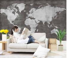 Papel Pintado Mural De Vellón Mapa Del Mundo Retro 2 Paisaje Fondo De Pantalla