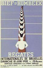 1932 cartel belga de remo Regatta impresión A3/A2