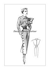 1950 vintage sewing pattern ECLAIR COUPE PARIS Daisys