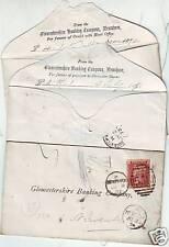 1873/4 3 X DIFF. Gloucestershire Banca envs. + STAZIONE
