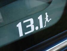 """13.1 Half Marathon Decal Sticker Runner Logo 2"""" 3"""" 4"""" 6"""" 7.5"""" WHITE BLACK SILVER"""