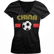 China PR Chinese Flag National Country Pride Team Dragon Juniors V-neck T-shirt