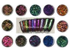 Chameleon copos de arte en uñas efecto de espejo Multi cromo Ultra Fina Brillo Polvo