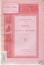 DIVINA COMMEDIA_ALVISI: NOTA CANTO XI PARADISO_1894