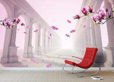 3D Stone Pillars Flowers 71 Wallpaper Decal Dercor Home Kids Nursery Mural  Home