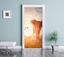 Großer afrikanischer Elefant in der Wüste - Türaufkleber 200x90cm Türtapete Türs