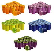40 Trinkbecher Plastikbecher 200 ml Partybecher Becher Bicolor  von Akzenta
