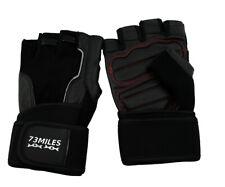 73MILES Leather Weight Training Fitness Sport Bodybuilding Gloves Fingerless G14