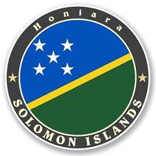 2 x Solomon Islands Vinyl Sticker Laptop Travel Luggage Car #5094