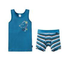 Schiesser Garnitur Shorts Unterhose + Unterhemd Jungen Baumwolle NEU