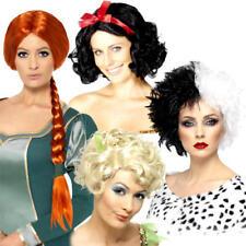Fairy Tale Wigs Ladies Fancy Dress Story Book Day Week Womens Costume Accessory