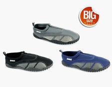 Mens Aqua Shoe Water Shoes Zipper Big Sizes Exercise Beach Pool Swim Surf  S6131