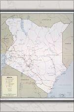 Poster, Many Sizes; Cia Map Of Kenya 1969 P2