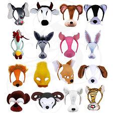 Kids Plush Animal Mouse Tiger Rabbit Lion Donkey Pig Goat School Play Fancy Mask