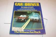 NOV 1975 CAR AND DRIVER magazine ALFETTA GT