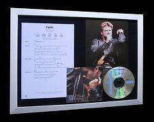 GEORGE MICHAEL Faith LTD TOP QUALITY CD MUSIC FRAMED DISPLAY+EXPRESS GLOBAL SHIP