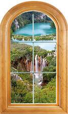Sticker fenêtre vouté trompe l'oeil déco Paysage réf 648