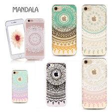 Pour iPhone 5 / 6 / 6s / 7 Étui transparent en silicone en motif Mandala créatif