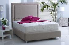 NEW Cove Upholstered Bed Frame Chenille Linen Velvet Bedstead 3ft, 4'6, 5ft, 6ft