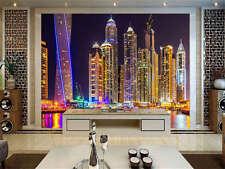 Night City Lights Dubai Full Wall Mural Photo Wallpaper Print Kids Home 3D Decal