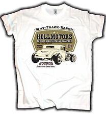 Vintage Hot Rod T-Shirt Retro Dirt Track Race Old School Garage US Car V8 Ford