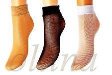 Señoras calcetines pequeña red Net Varios Colores Para Mujer Hecho En Italia