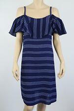 Crossroads Ladies Off Shoulder Ruffle Dress sizes 10 14 16 18 20 22 Colour Navy