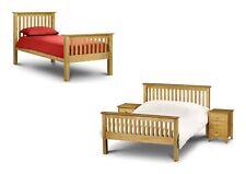 Julian Bowen Barcelona Antique Pine High Foot End Bed Frame - Single Double King